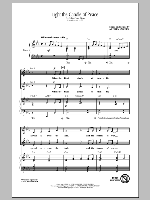 Light The Candle Of Peace Sheet Music