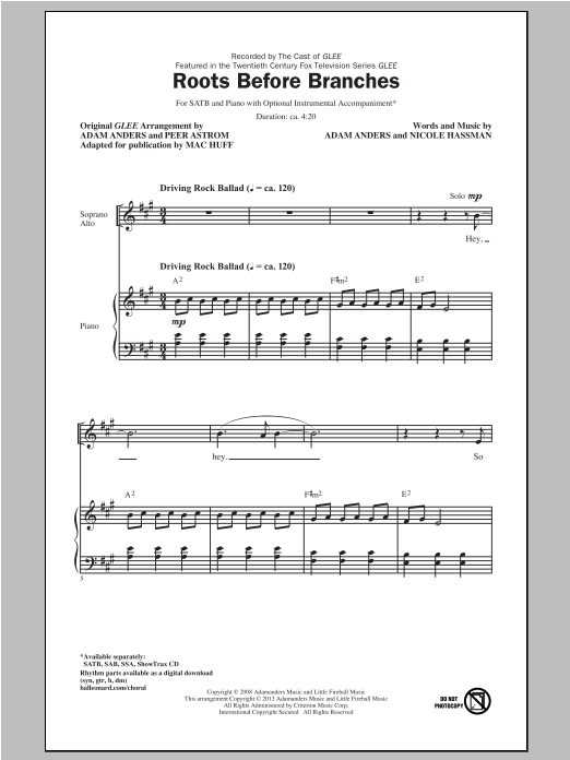 Roots Before Branches (SATB Choir)
