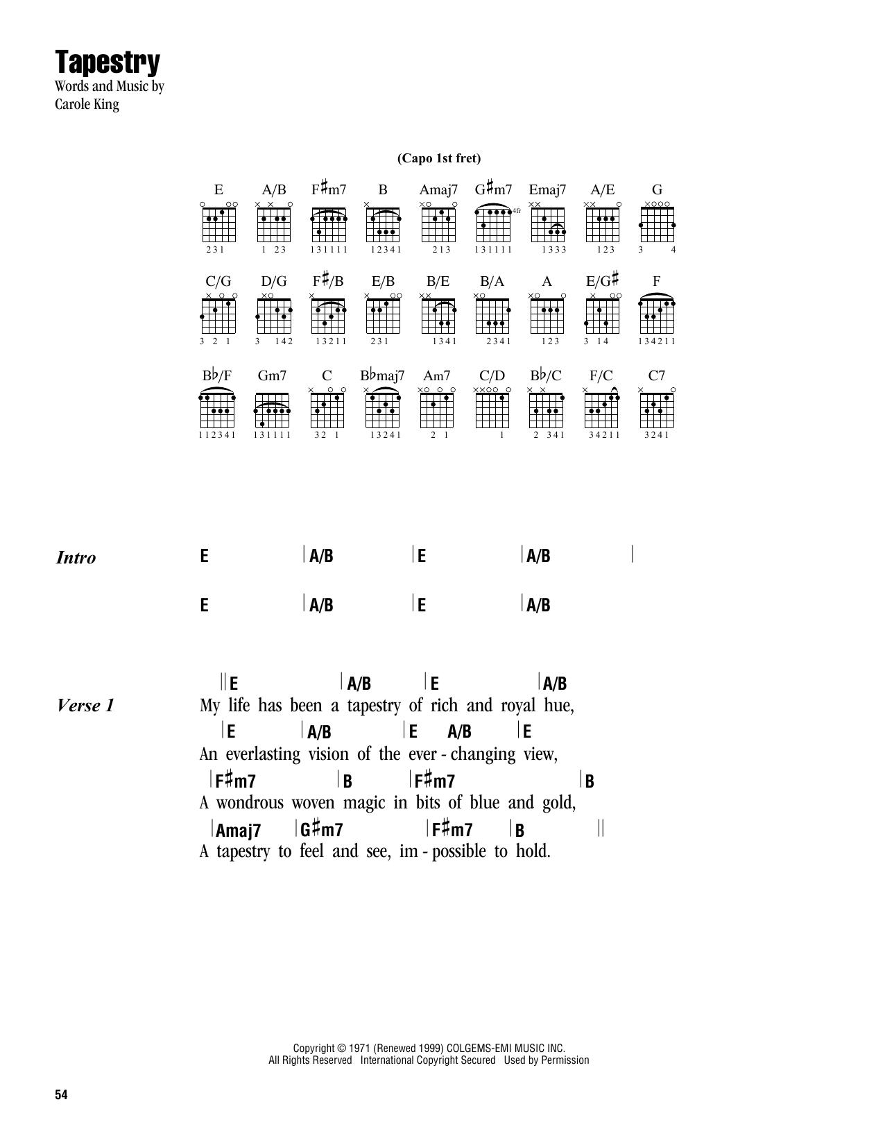 Carole King - Tapestry Lyrics and Tracklist | Genius