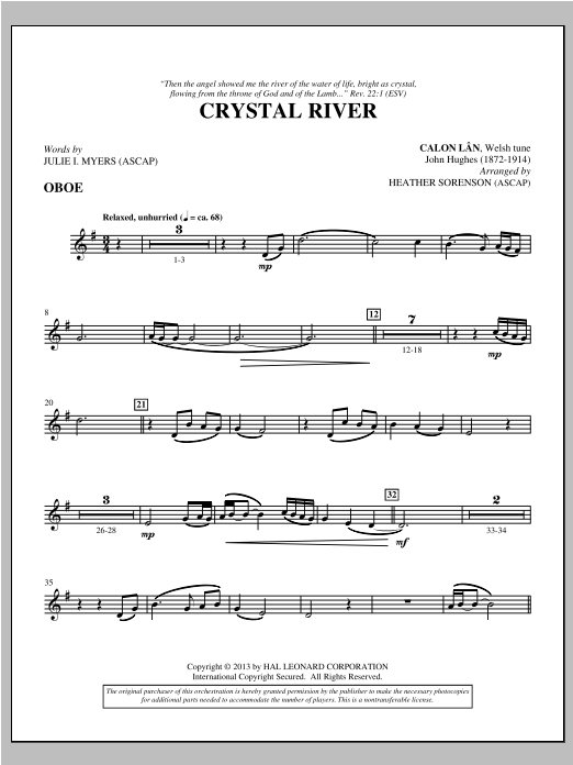 Crystal River - Oboe Sheet Music