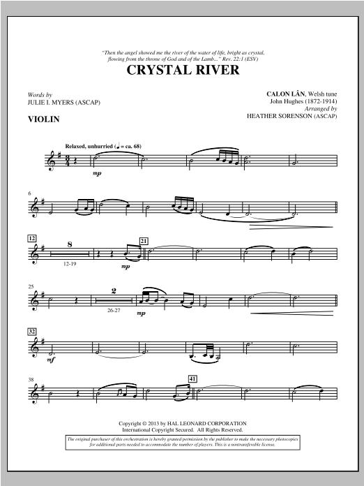 Crystal River - Violin Sheet Music