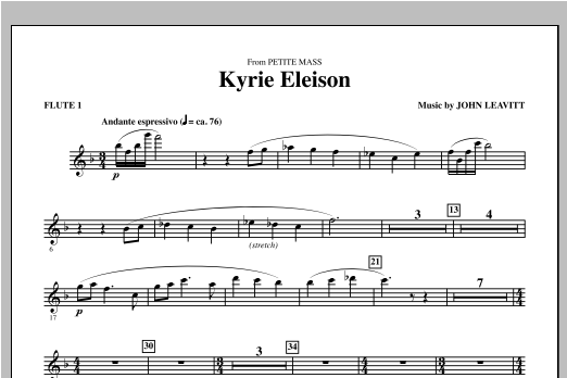 Kyrie Eleison (from Petite Mass) - Flute 1 Sheet Music