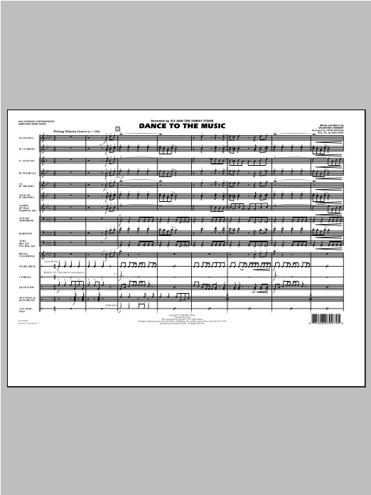 Dance To The Music - Conductor Score (Full Score) Sheet Music