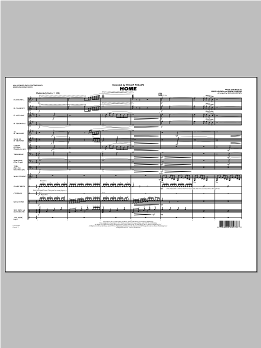 Home - Conductor Score (Full Score) Sheet Music