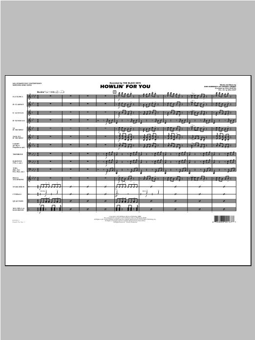 Howlin' For You (COMPLETE) sheet music for marching band by Paul Murtha. Score Image Preview.