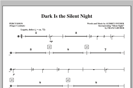 Dark Is the Silent Night - Percussion Sheet Music
