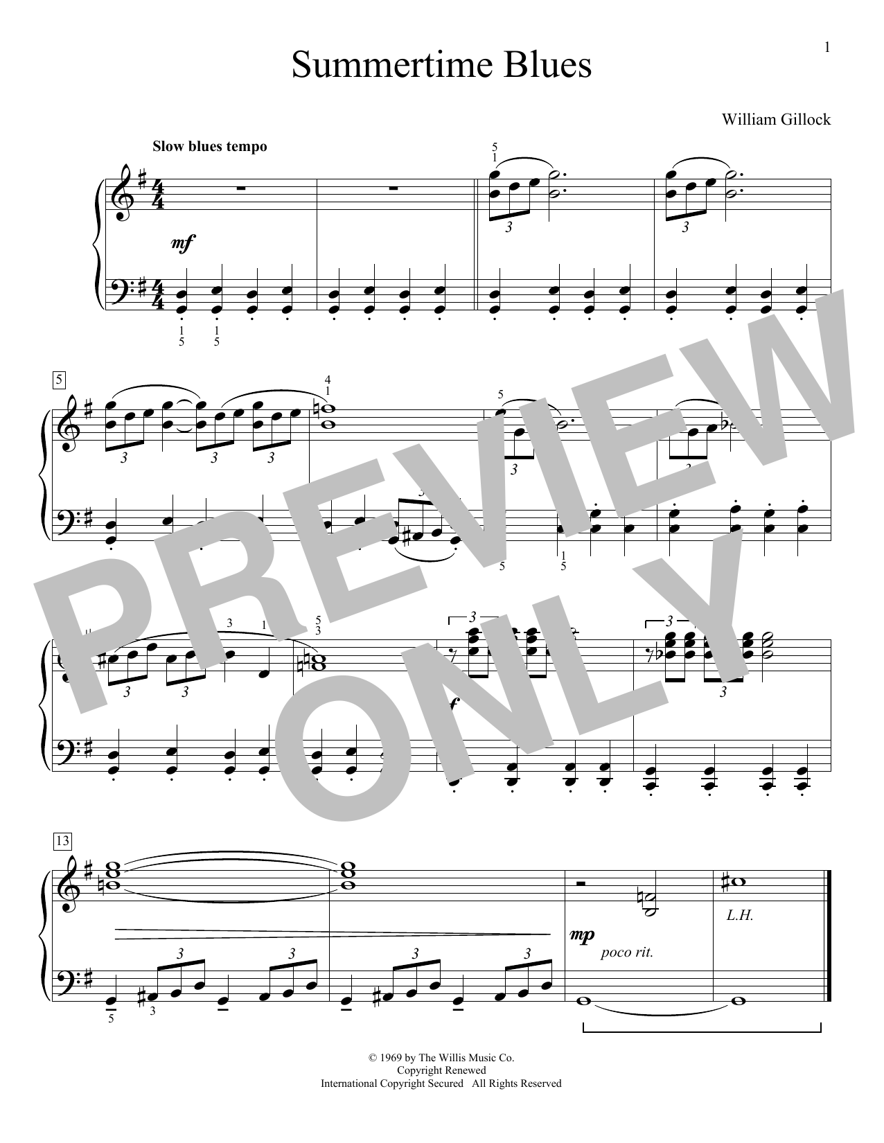 Summertime Blues (Educational Piano)