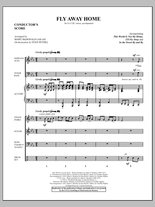 Fly Away Home - Score Sheet Music