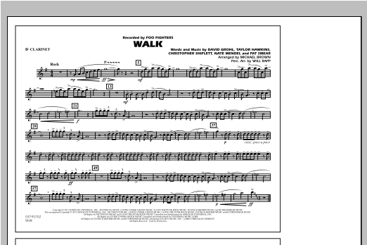 Walk - Bb Clarinet Sheet Music