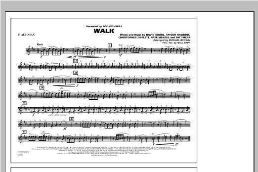Walk - Eb Alto Sax Sheet Music