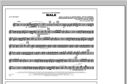 Walk - 1st Bb Trumpet Sheet Music