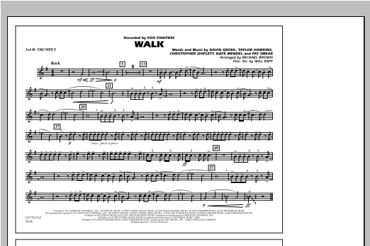 Walk - 3rd Bb Trumpet Sheet Music