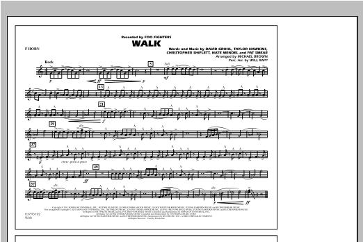 Walk - F Horn Sheet Music