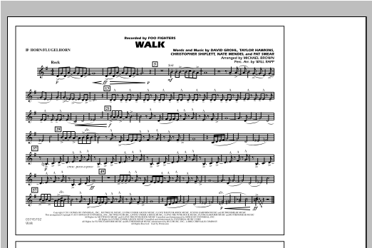 Walk - Bb Horn/Flugelhorn Sheet Music