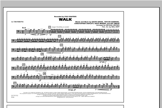 Walk - 1st Trombone Sheet Music