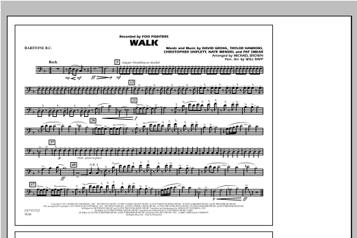 Walk - Baritone B.C. Sheet Music