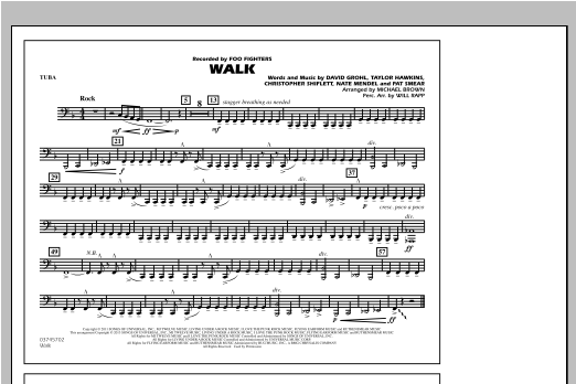 Walk - Tuba Sheet Music