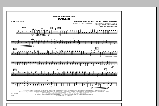 Walk - Electric Bass Sheet Music