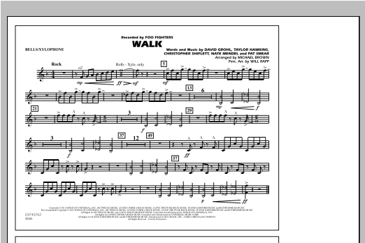 Walk - Bells/Xylophone Sheet Music