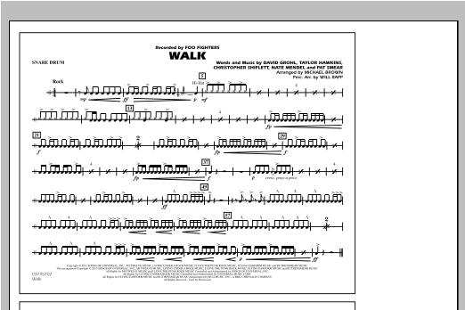 Walk - Snare Drum Sheet Music