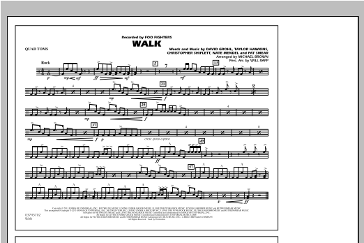 Walk - Quad Toms Sheet Music