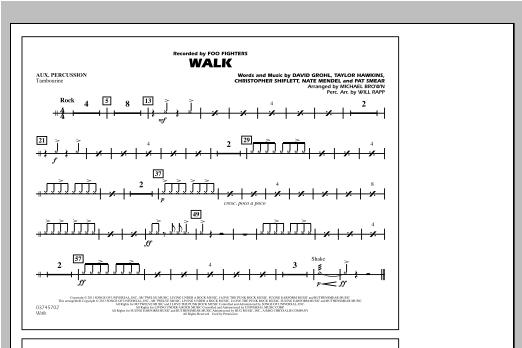Walk - Aux Percussion Sheet Music