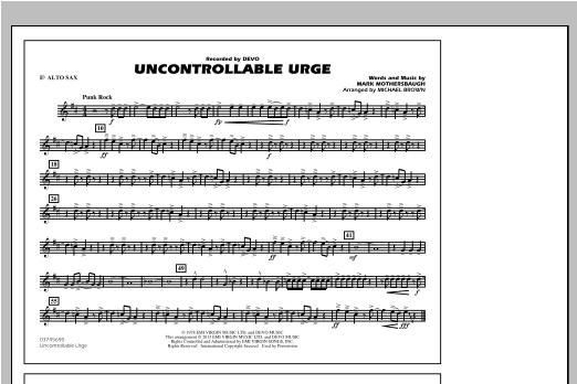 Uncontrollable Urge - Eb Alto Sax Sheet Music