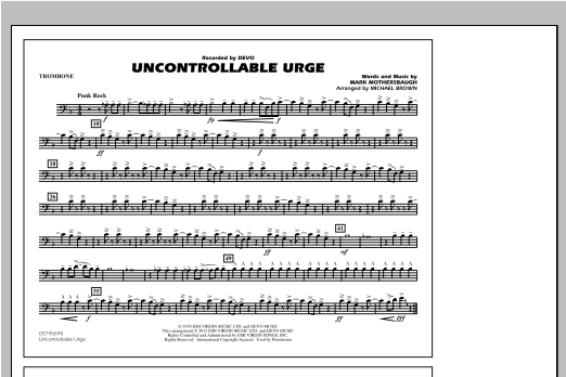 Uncontrollable Urge - Trombone Sheet Music
