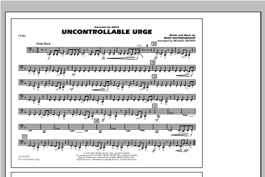 Uncontrollable Urge - Tuba Sheet Music