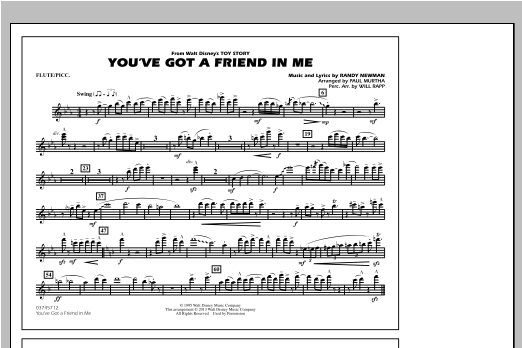 You've Got a Friend in Me (from Toy Story 2) (arr. Paul Murtha) - Flute/Piccolo Sheet Music