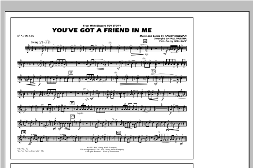 You've Got a Friend in Me (from Toy Story 2) (arr. Paul Murtha) - Eb Alto Sax (Marching Band)