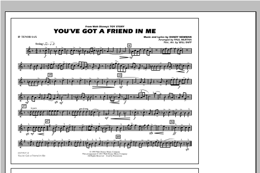 You've Got a Friend in Me - Bb Tenor Sax Sheet Music