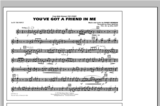 You've Got a Friend in Me (from Toy Story 2) (arr. Paul Murtha) - 1st Bb Trumpet Sheet Music