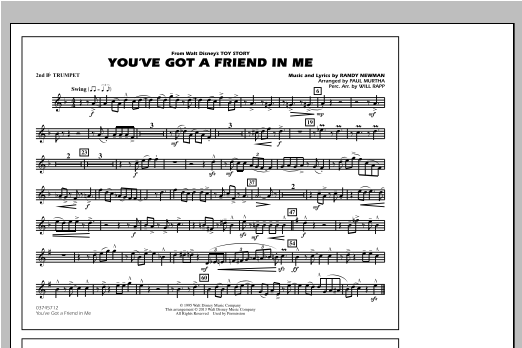 You've Got a Friend in Me (from Toy Story 2) (arr. Paul Murtha) - 2nd Bb Trumpet (Marching Band)