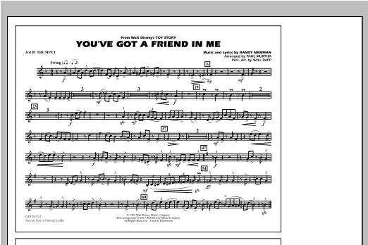 You've Got a Friend in Me (from Toy Story 2) (arr. Paul Murtha) - 3rd Bb Trumpet (Marching Band)
