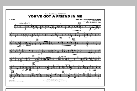 You've Got a Friend in Me - F Horn Sheet Music