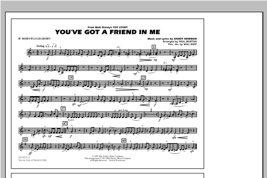 You've Got a Friend in Me (from Toy Story 2) (arr. Paul Murtha) - Bb Horn/Flugelhorn (Marching Band)