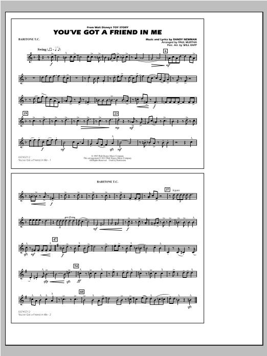 You've Got a Friend in Me - Baritone T.C. Sheet Music