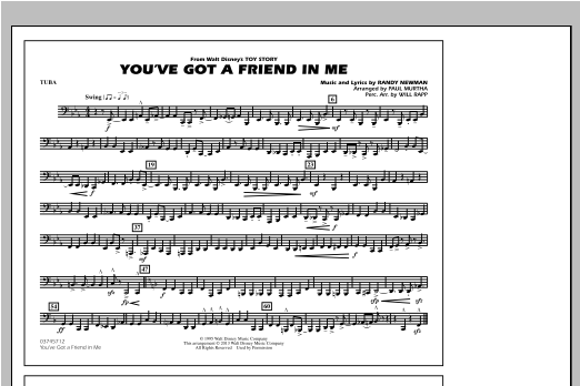 You've Got a Friend in Me (from Toy Story 2) (arr. Paul Murtha) - Tuba Sheet Music