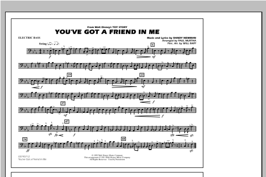 You've Got a Friend in Me (from Toy Story 2) (arr. Paul Murtha) - Electric Bass (Marching Band)