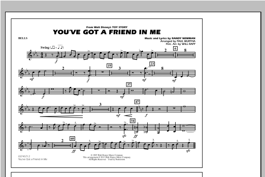 You've Got a Friend in Me - Bells Sheet Music