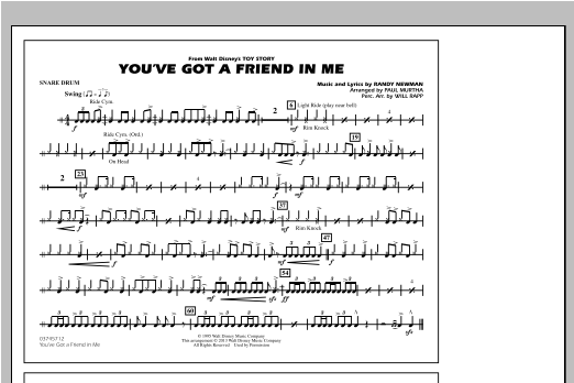 You've Got a Friend in Me - Snare Drum Sheet Music