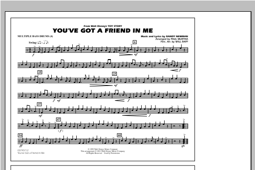 You've Got a Friend in Me - Multiple Bass Drums Sheet Music