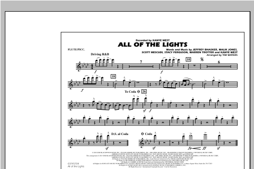 All Of The Lights - Flute/Piccolo Sheet Music