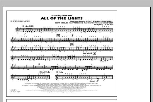All Of The Lights - Bb Horn/Flugelhorn Sheet Music