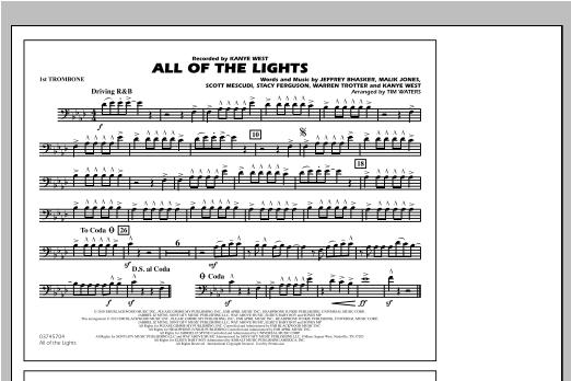 All Of The Lights - 1st Trombone Sheet Music