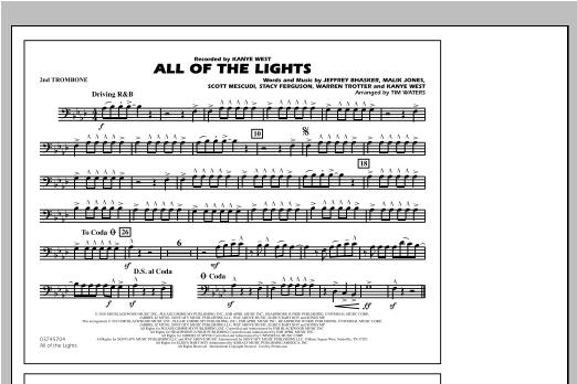 All Of The Lights - 2nd Trombone Sheet Music