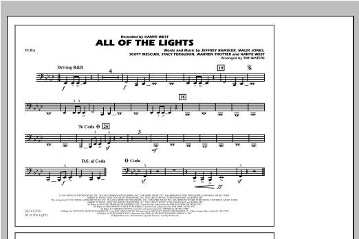 All Of The Lights - Tuba Sheet Music