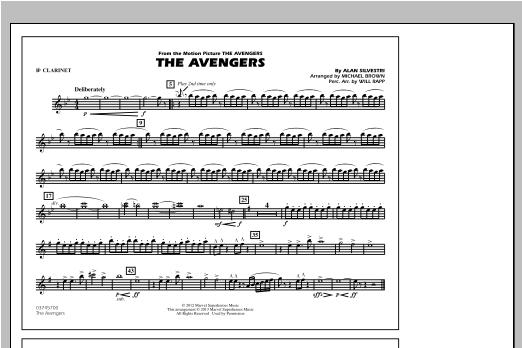 The Avengers - Bb Clarinet Sheet Music