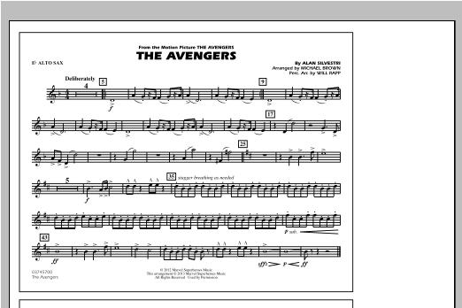 The Avengers - Eb Alto Sax Sheet Music